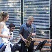 Eric Cummings am Saxophone