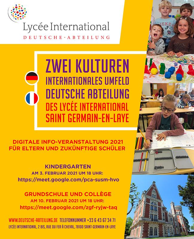 Deutsche Abteilung Info-Veranstaltung Deutsche Schule Paris Kindergarten Auslandsschule